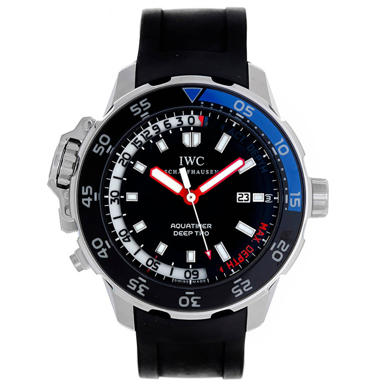 IWC Aquatimer Deep Two Stainless Steel Men's Diver's Watch IW354702 (IW3547-02)