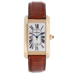 Cartier Tank Americaine (or American) Men's Gold Watch W2603156