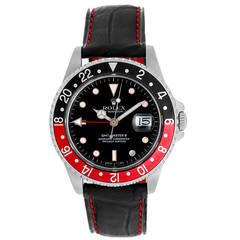 Men's Rolex GMT-Master II Men's Watch with Black Strap Band 16710