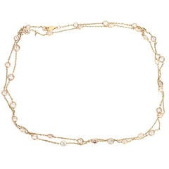 Stunning Gold 16 Carats Diamonds by Yard Necklace