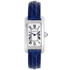 Cartier Tank Americaine Ladies Small White Gold Watch W2601956