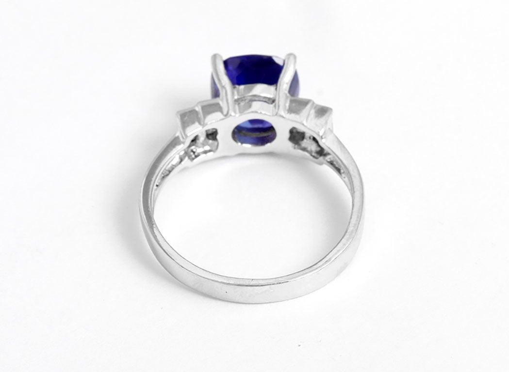 stunning platinum tanzanite ring sz 7 1 2 at 1stdibs