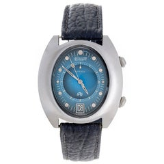 Jaeger-LeCoultre Stainless Steel HPG Memovox Alarm Automatic Wristwatch