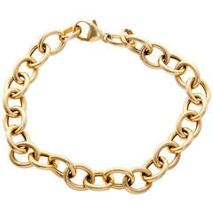 Simple Yellow Gold Link Bracelet