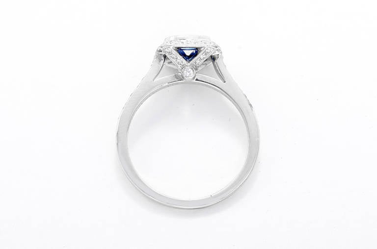 Tiffany And Co Legacy Purple Sapphire Diamond Platinum