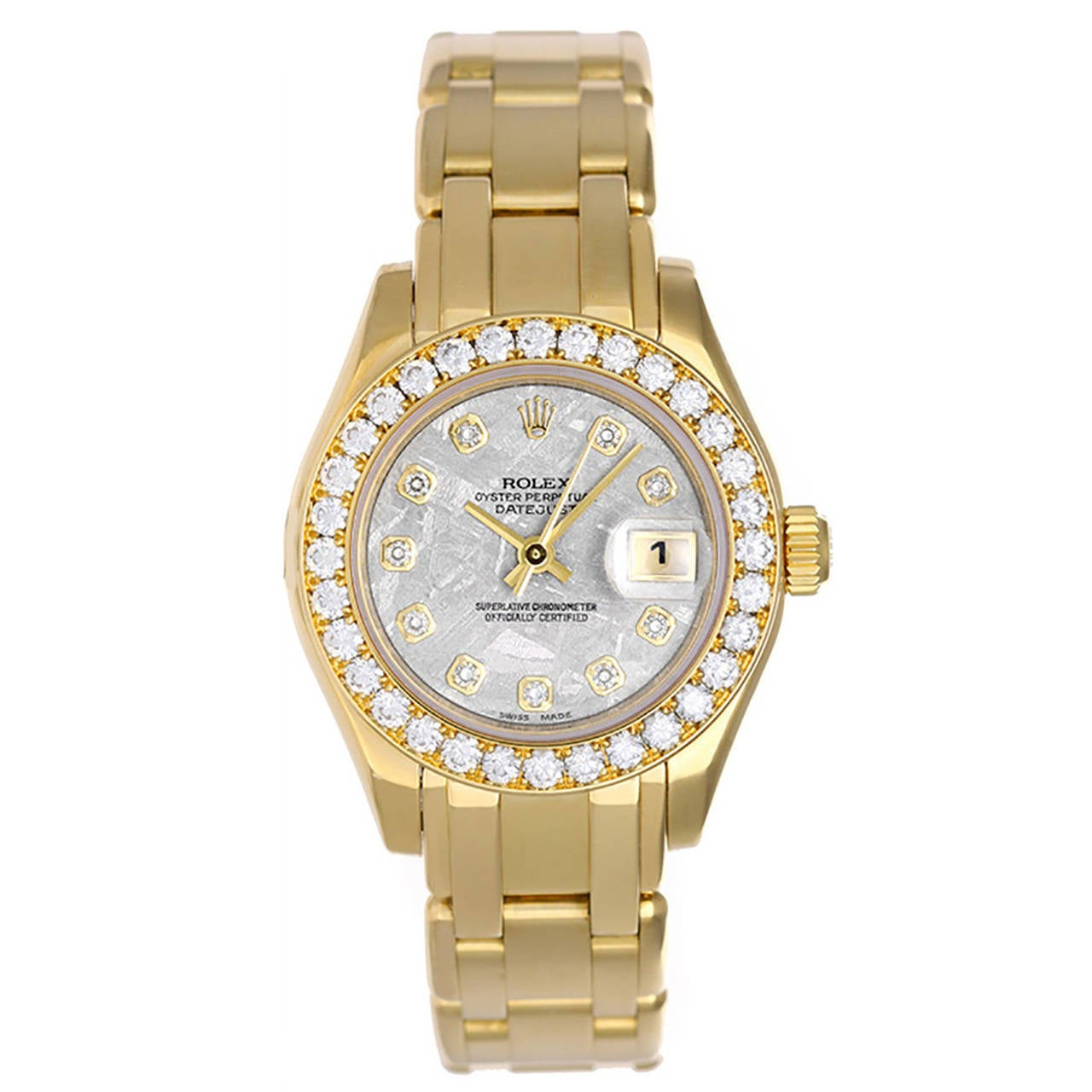 Rolex Lady's Yellow Gold Diamond Dial Automatic Wristwatch Ref 80298