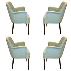 Carlo di Carli for M. Singer & Sons Set of Four Chairs