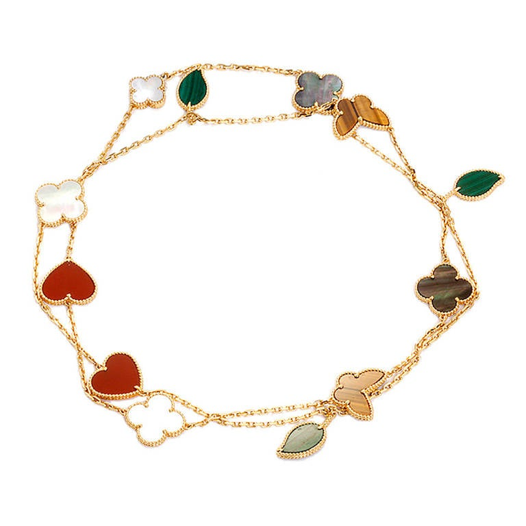 Van Cleef And Arpels Lucky Alhambra Long Necklace With
