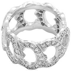 Cartier Double C de Cartier Diamond White Gold Ring