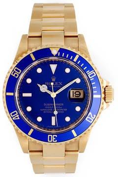 Rolex Yellow Gold Submariner Wristwatch Ref 16618