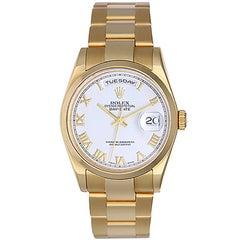 Rolex Yellow Gold Day-Date President Wristwatch Ref 118208