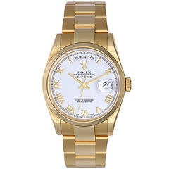 Rolex Yellow Gold Day-Date President Wristwatch Ref 118208