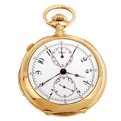 Tiffany & Co Yellow Gold 5-Minute Repeater Split-Second Chronograph Pocket Watch
