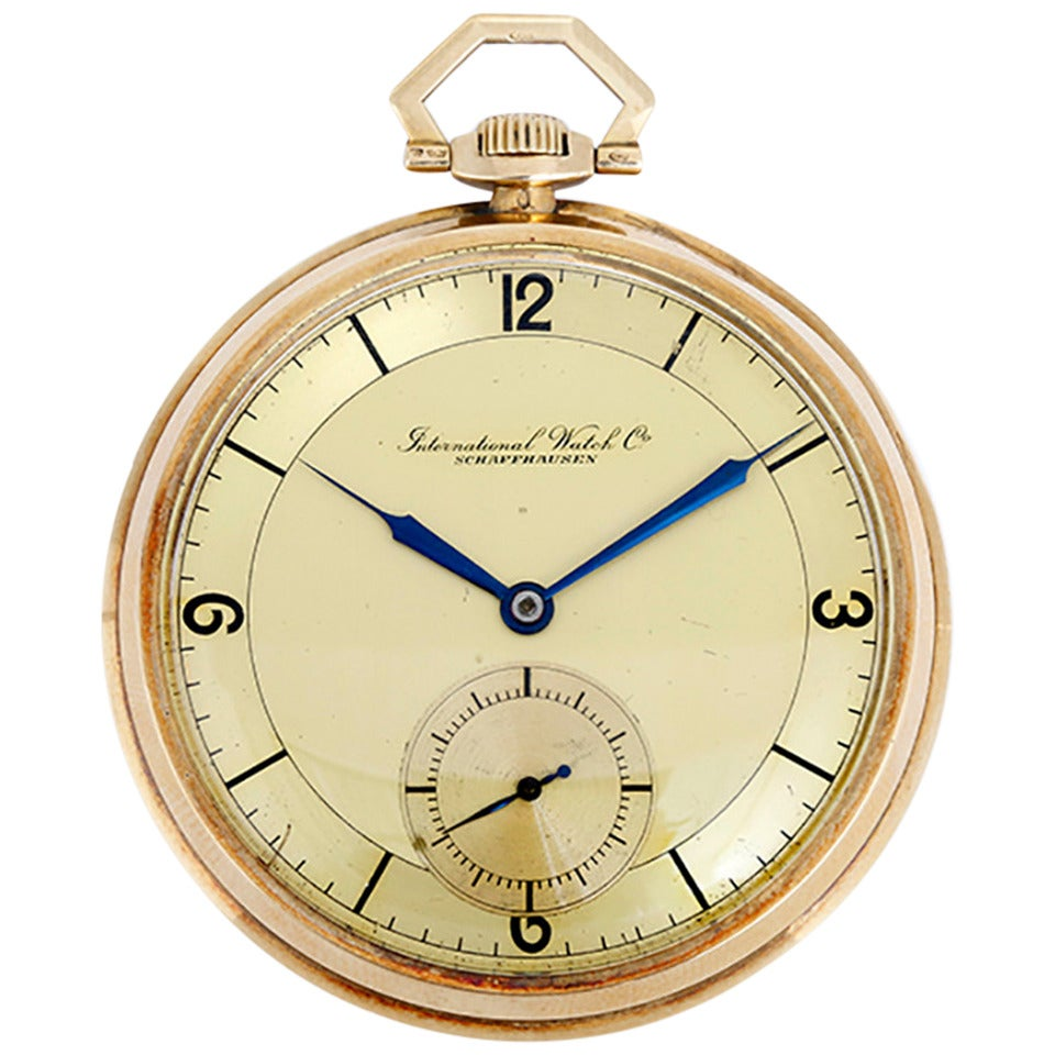 iwc yellow gold open pocket at 1stdibs