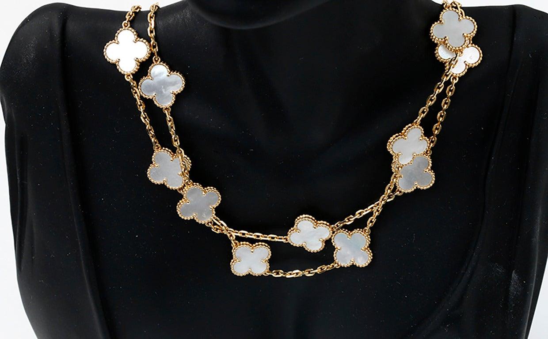 Van Cleef and Arpels Vintage Alhambra 20 Motifs Long Necklace at ...
