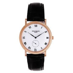 Patek Philippe Rose Gold Calatrava Wristwatch Ref 3919R