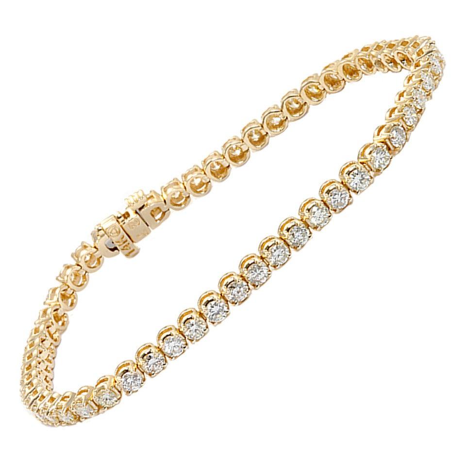 Beautiful Diamond Yellow Gold Bracelet at 1stdibs