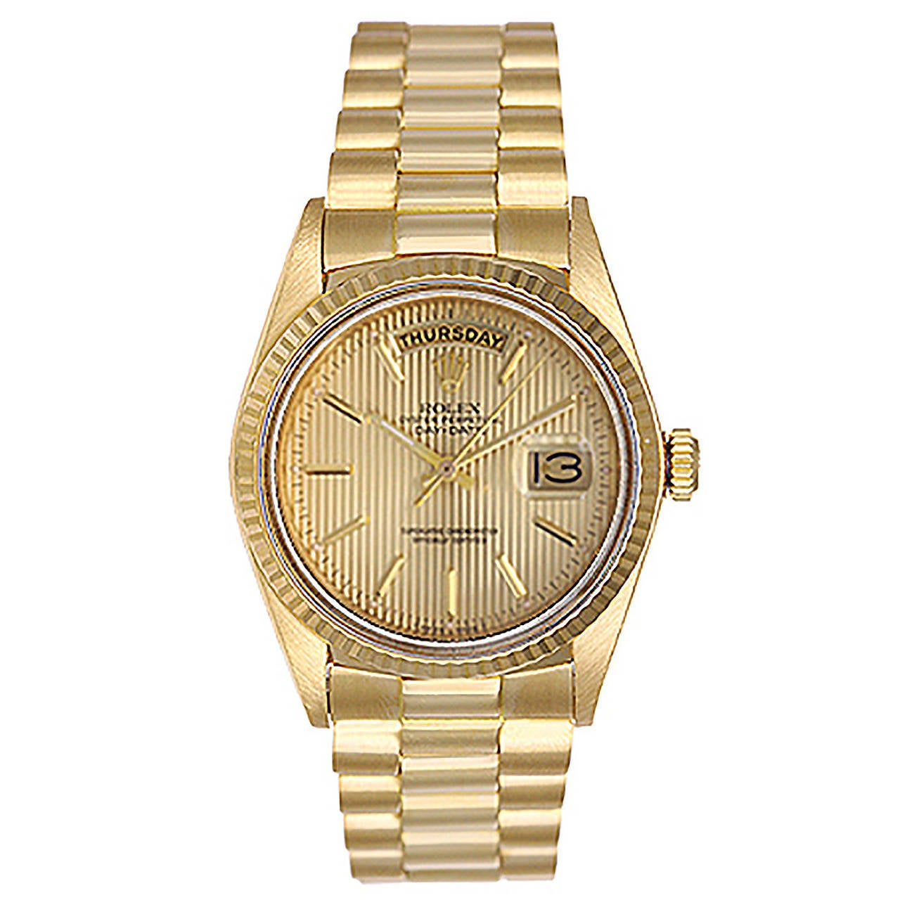 Rolex Yellow Gold Day-Date President Wristwatch Ref 18038