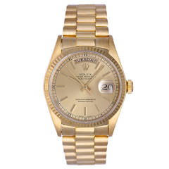 Rolex Yellow Gold Day-Date President Wristwatch 18038
