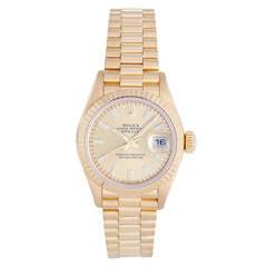 Rolex Lady's Yellow Gold Datejust Wristwatch Ref 79178