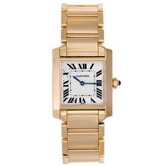 Cartier Tank Francaise Midsize Yellow Gold Men's/Ladies Watch W50014N2