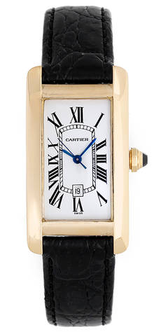 Cartier Tank Americaine (American) Gold Midsize Men's/Ladies Automatic Watch