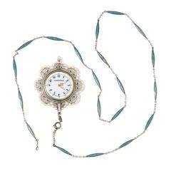 Patek Philippe Lady's Gold and Enamel Pendant Watch circa 1910s