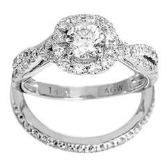 Amazing Diamond White Gold Bridal Rings