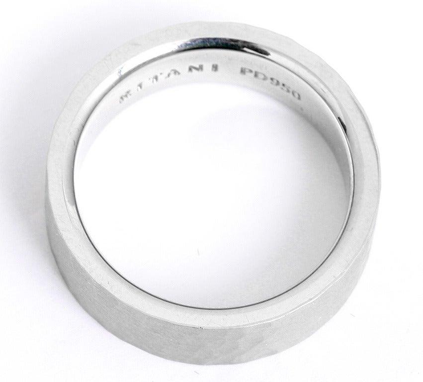 Ritani Men 39 S Palladium Hammered Finish Wedding Band Ring At 1stdibs