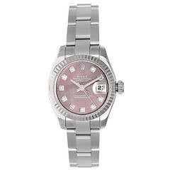 Rolex Lady's White Gold Datejust Wristwatch Ref 179179 with Mother-of-Pearl Dial