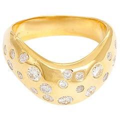 Stunning Diamond Yellow Gold Ring