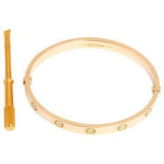 Cartier Gold Love Bracelet with Screwdriver