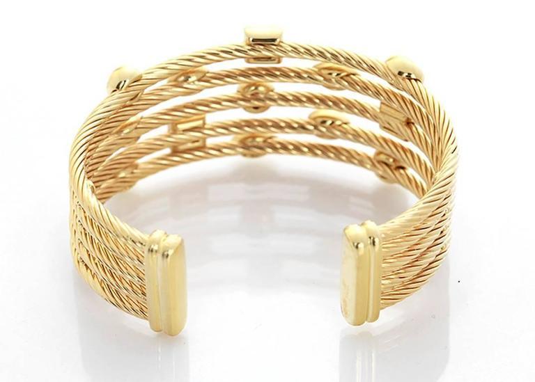 a0de8e249 David Yurman diamond gold Confetti Wide Cuff Bracelet For Sale. This  amazing David Yurman wide cuff bracelet is a part of the Confetti  Collection; and