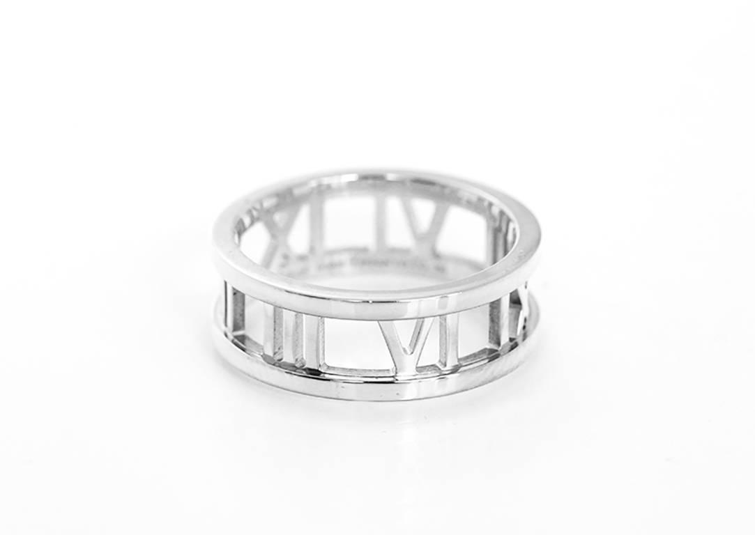 Tiffany And Co Atlas Gold Open Roman Numeral Band Ring