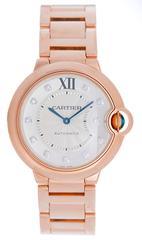Cartier Rose Gold Ballon Bleu Automatic Wristwatch Ref WE902026