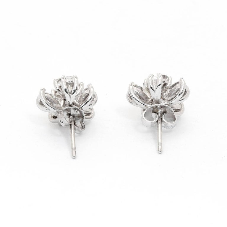 Flower Stud Earrings with Convertible Earring Jackets 3