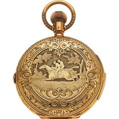 Hy. Grandjean & Cie. LeCoultre Yellow Gold Hunting Case Pocket Watch