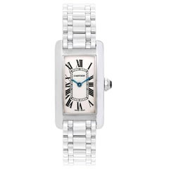 Cartier Ladies White Gold Tank Americaine Quartz wristwatch ref W26019L1
