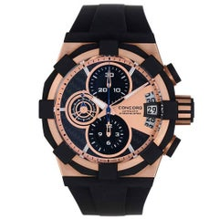 Concord Rose Gold C1 Sport Chronograph Automatic Wristwatch Ref 0320012
