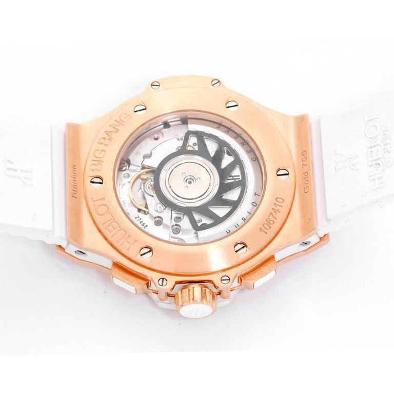 Women's or Men's Hublot Rose Gold Big Bang Portocervo Automatic Wristwatch