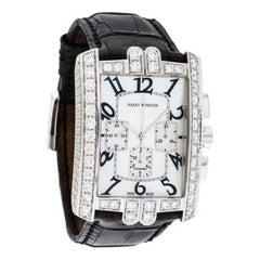 Harry Winston White Gold Diamond Avenue C Chrono Automatic Wristwatch