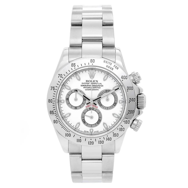 Rolex Stainless Steel Daytona Chronograph Automatic Wristwatch Ref 116520 For Sale