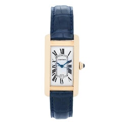 Cartier Yellow Gold Tank Americaine Automatic Wristwatch Ref W2603156