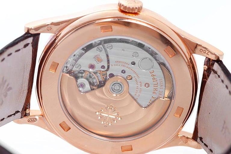 Patek Philippe Rose Gold Calatrava Automatic Wristwatch   In Excellent Condition In Dallas, TX