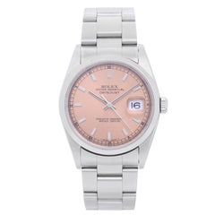 Rolex Stainless Steel Datejust Automatic Wristwatch Ref 16200