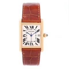 Cartier Yellow Gold Tank Louis Quartz Wristwatch Ref W1529756
