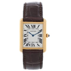 Cartier Yellow Gold Tank Solo Quartz Wristwatch