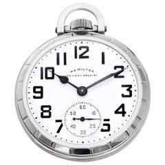Hamilton Stainless Steel Railway Special Pocket Watch