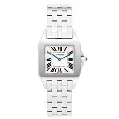 Cartier Ladies White Gold Stainless Steel Santos Demoiselle Quartz Wristwatch