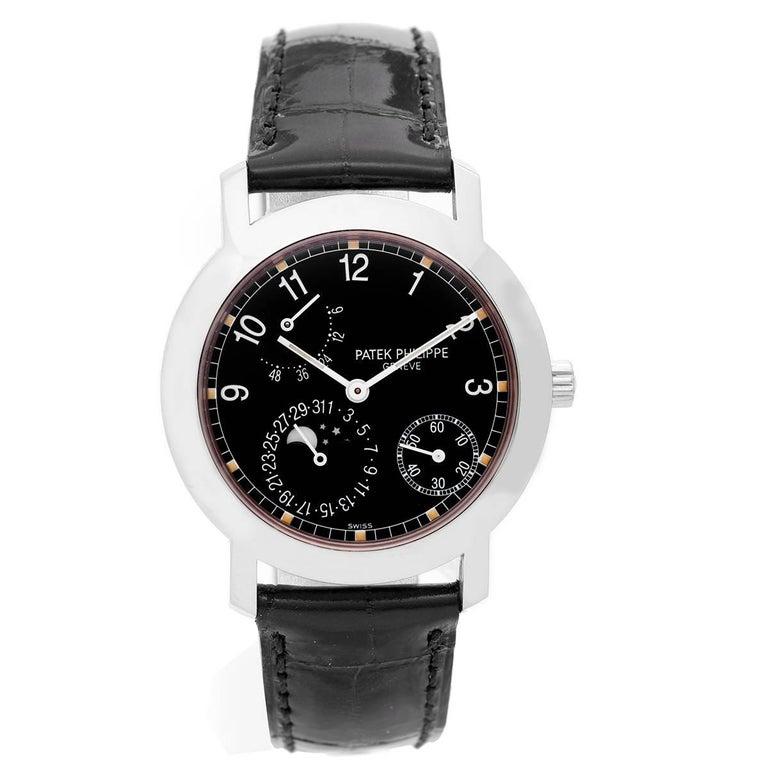 Patek Philippe White Gold Annual Calendar Automatic Wristwatch Ref 5055 G